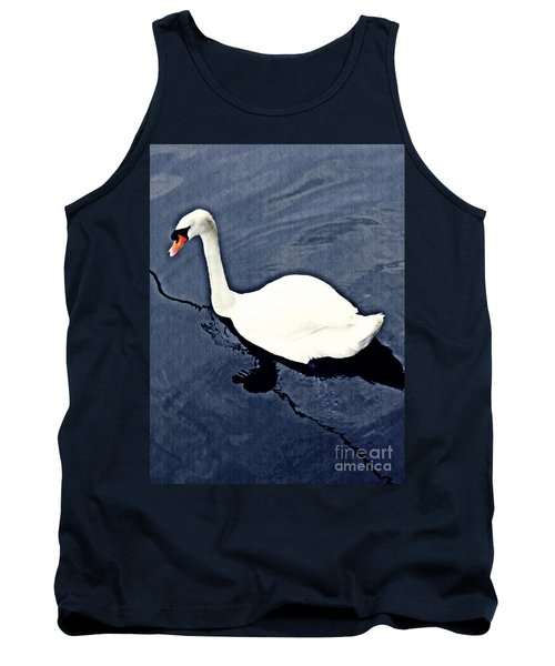 Tank Top featuring the photograph Swan On The Rhine by Sarah Loft