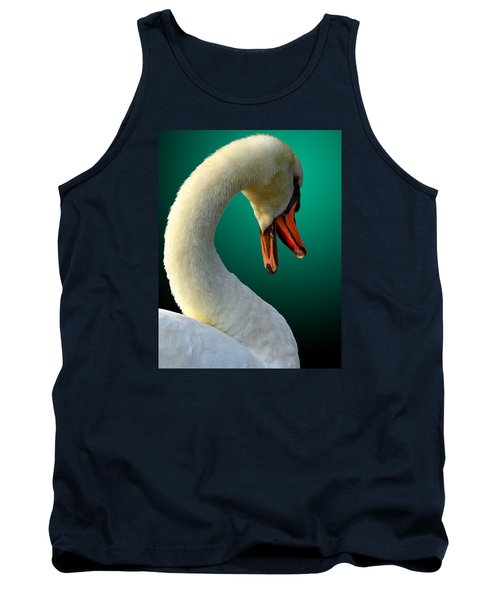 Tank Top featuring the photograph Swan Radiance by Brian Stevens