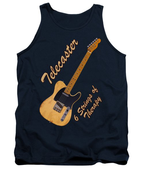 Telecaster Therapy T-shirt Tank Top by WB Johnston