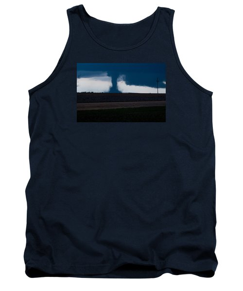 Terror On The Horizon In Western Kansas Tank Top by Shirley Heier