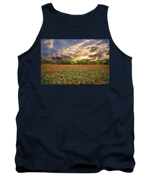 Texas Wildflowers Under Sunset Skies Tank Top