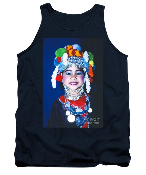 Tank Top featuring the photograph Thai Girl Traditionally Dressed by Heiko Koehrer-Wagner