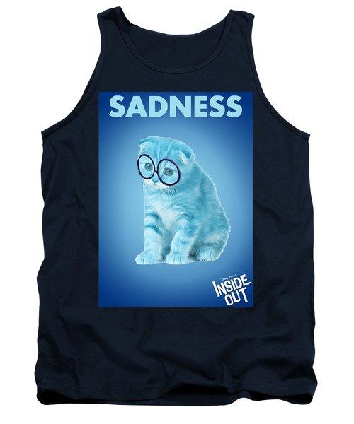 The Cat Sadness Tank Top by Sheila Mcdonald