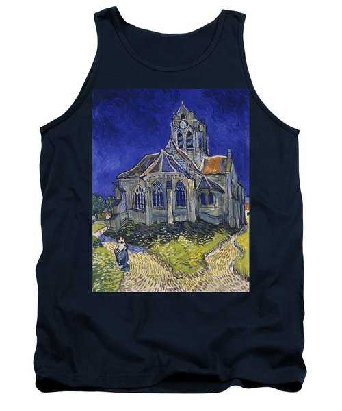 Tank Top featuring the painting The Church At Auvers by Van Gogh