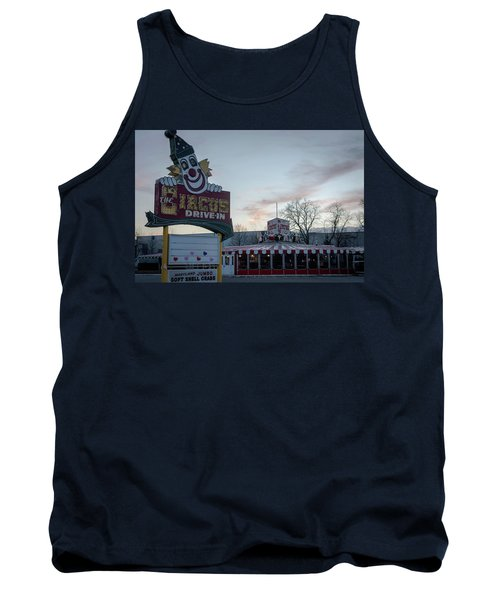 Tank Top featuring the photograph The Circus Drive In Wall Township Nj by Terry DeLuco
