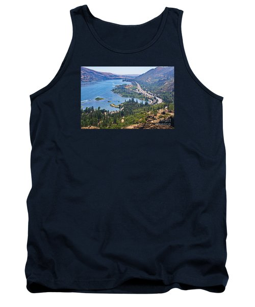 The Columbia River In The Gorge Tank Top by Ansel Price