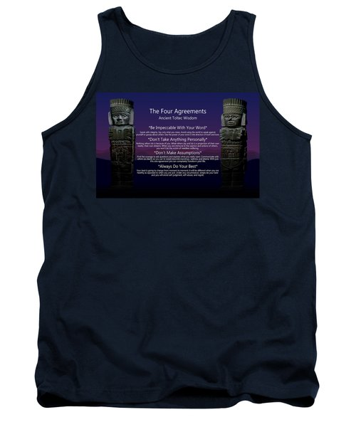 The Four Agreements Poster Tank Top