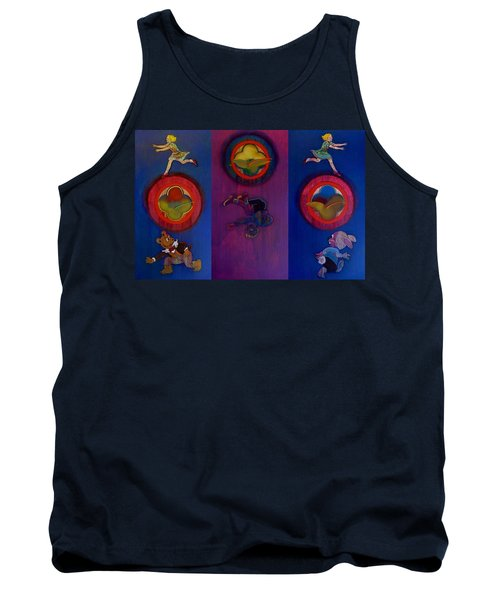 Tank Top featuring the painting The Fruit Machine Stops II by Charles Stuart