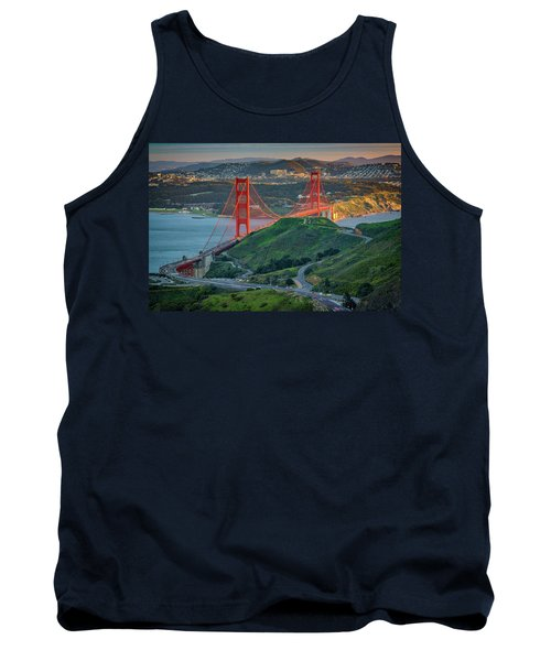 The Golden Gate At Sunset Tank Top