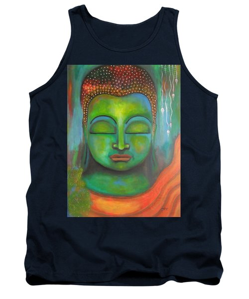 The Green Buddha Tank Top by Prerna Poojara