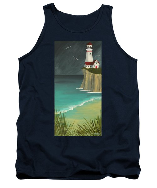 The Lighthouse On The Cliff Tank Top