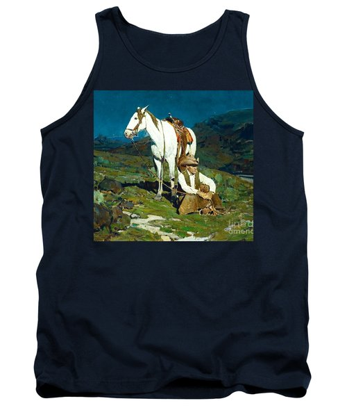 Tank Top featuring the painting The Night Hawk by Pg Reproductions