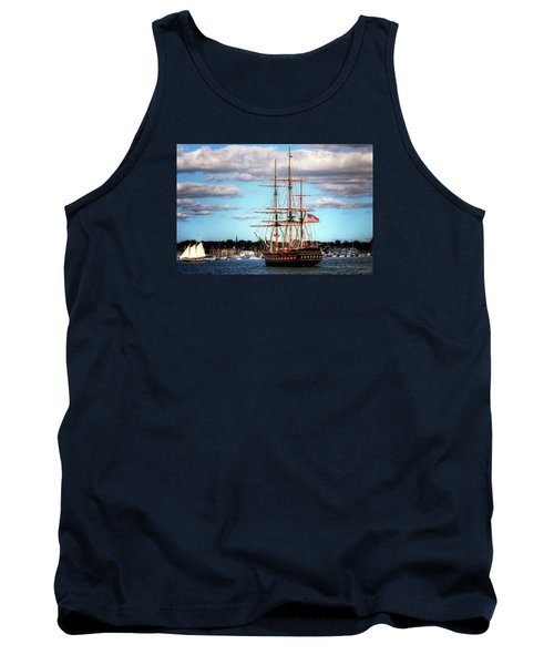 Tank Top featuring the photograph Tall Ship The Oliver Hazard Perry by Tom Prendergast