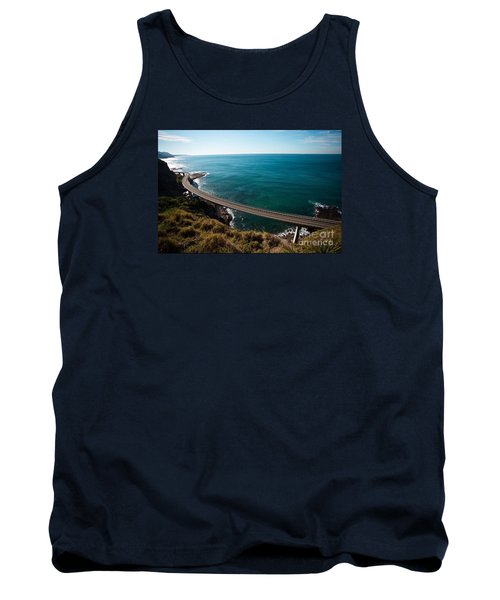 The Road Above The Sea Tank Top by Bev Conover