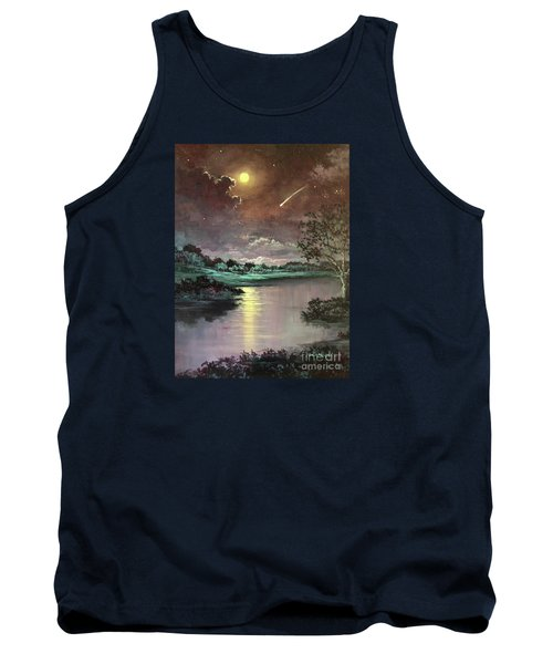 The Silence Of A Falling Star Tank Top by Randy Burns