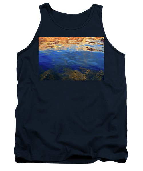 The Surface Is A Reflection  Tank Top by Lyle Crump
