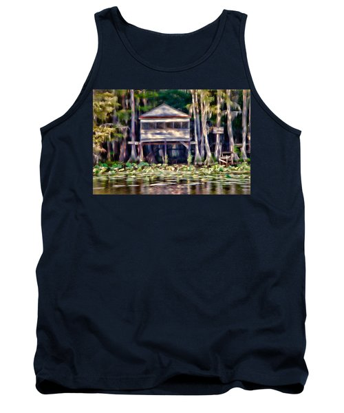 Tank Top featuring the photograph The Tea Room by Lana Trussell
