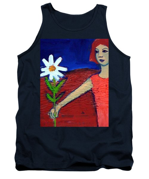 The White Flower Tank Top