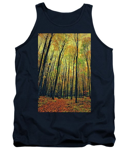 Tank Top featuring the photograph The Woods In The North by Michelle Calkins