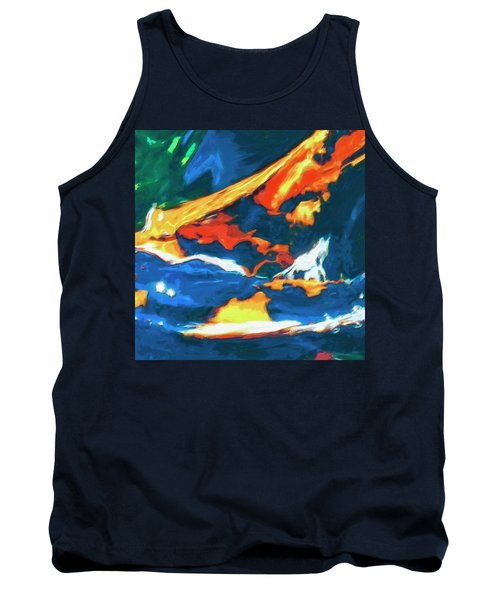 Tank Top featuring the painting Tidal Forces by Dominic Piperata