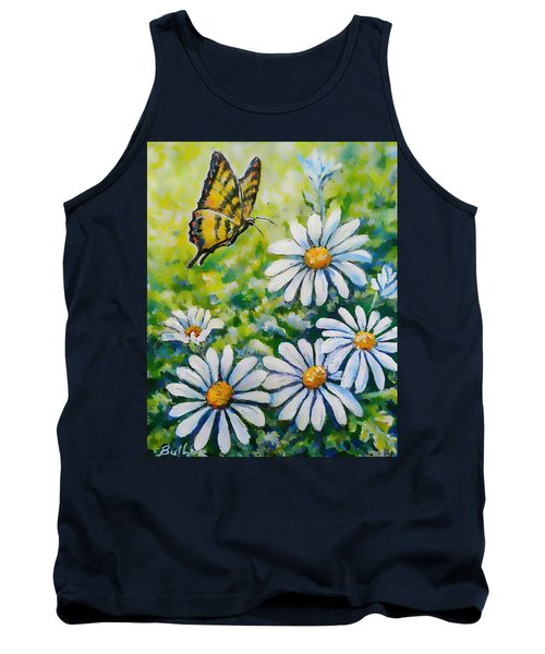 Tiger And Daisies  Tank Top