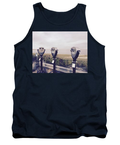 To See The Sea Tank Top by Beth Saffer