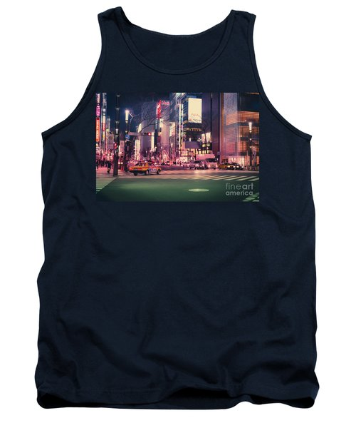 Tokyo Street At Night, Japan 2 Tank Top