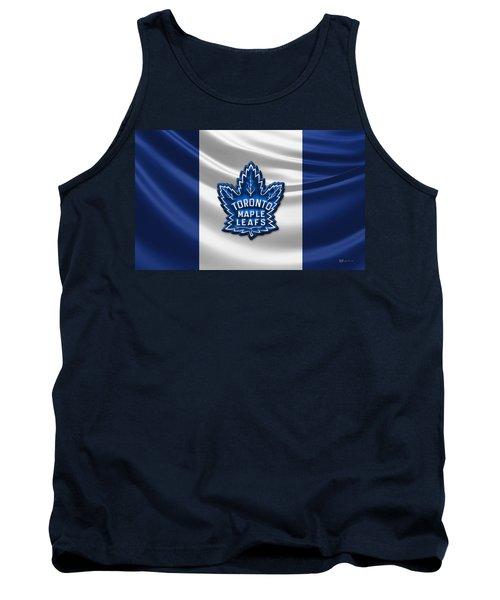 Toronto Maple Leafs - 3d Badge Over Flag Tank Top
