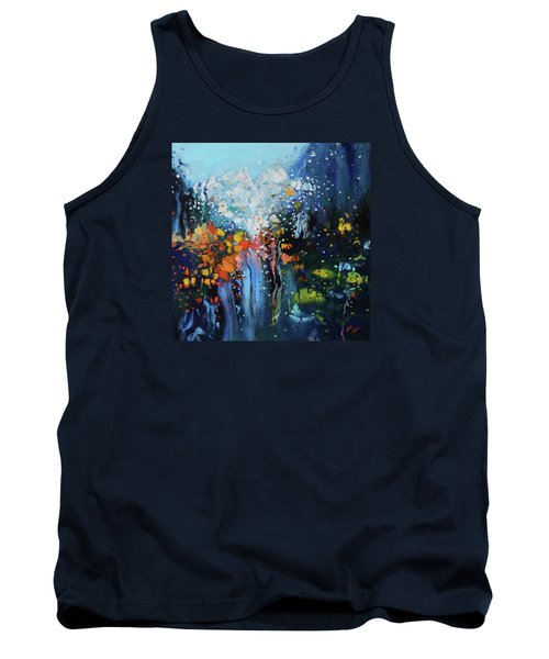 Tank Top featuring the painting Traffic Seen Through A Rainy Windshield by Dan Haraga