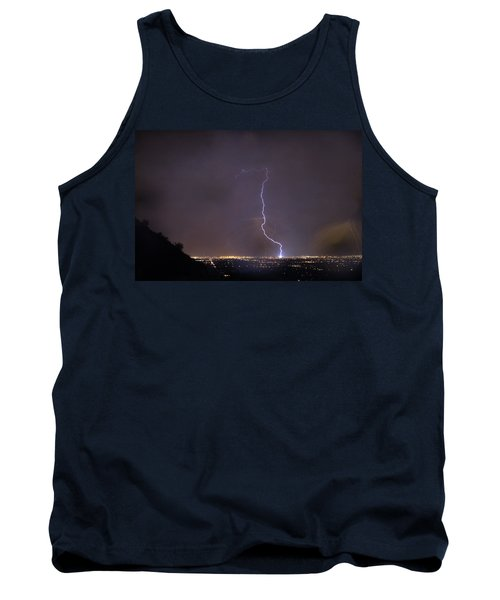 Tank Top featuring the photograph It's A Hit Transformer Lightning Strike by James BO Insogna