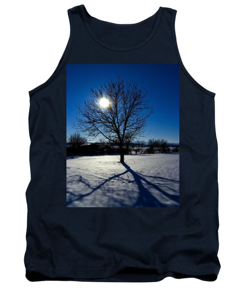 Tree Into Sun On A Winter Snowy Afternoon Tank Top