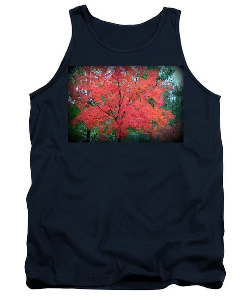 Tank Top featuring the photograph Tree On Fire by AJ Schibig