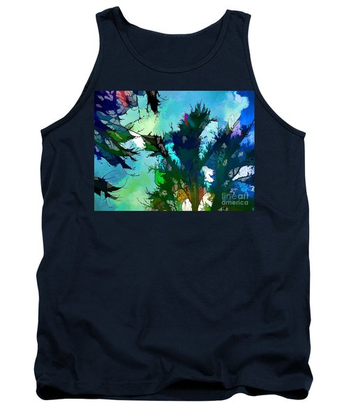 Tree Spirit Abstract Digital Painting Tank Top