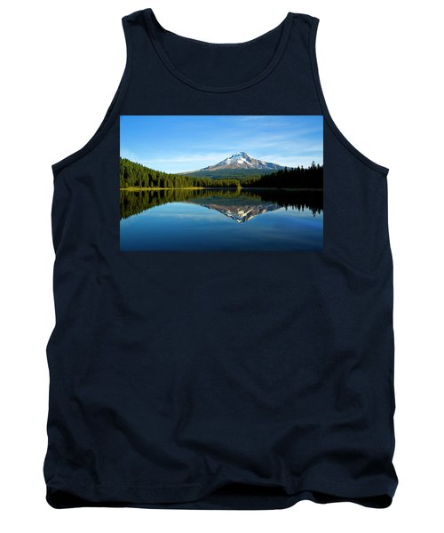 Trillium Lake Mt Hood Fall Tank Top