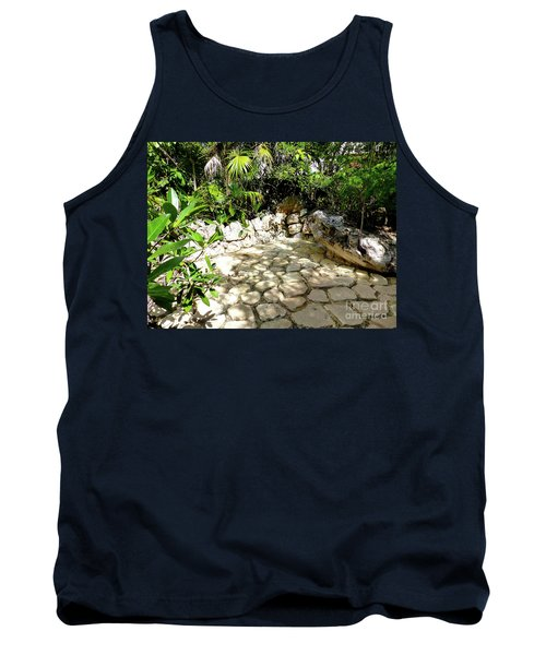 Tank Top featuring the photograph Tropical Hiding Spot by Francesca Mackenney