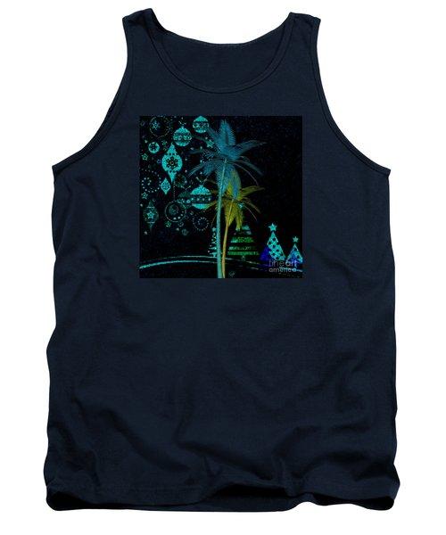 Tank Top featuring the digital art Tropical Holiday Blue by Megan Dirsa-DuBois