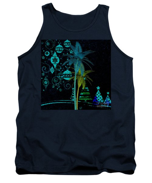Tropical Holiday Blue Tank Top