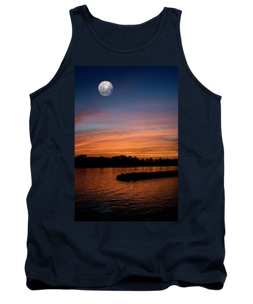 Tank Top featuring the photograph Tropical Moon by Laura Fasulo