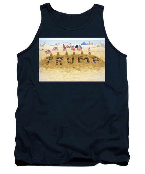 Tank Top featuring the photograph Trump - Sandcastle by Colleen Kammerer