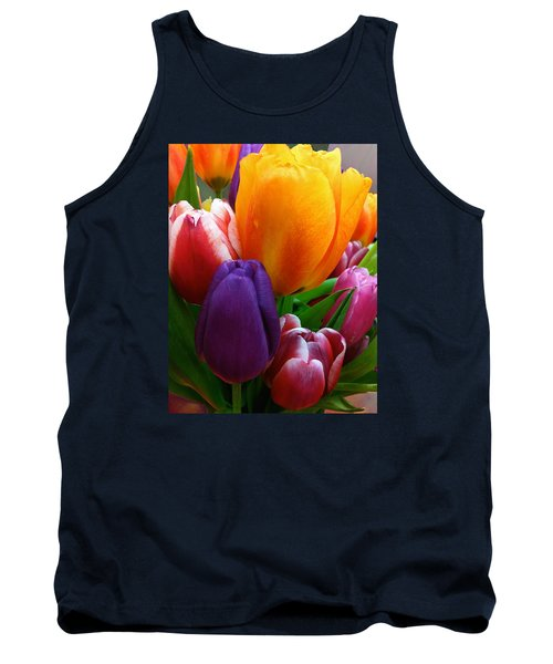 Tank Top featuring the photograph Tulips Smiling by Marie Hicks