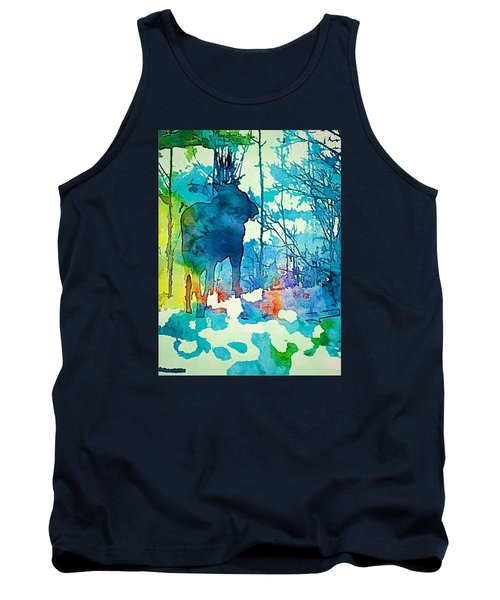 Turquoise Moose Tank Top by Jan Amiss Photography
