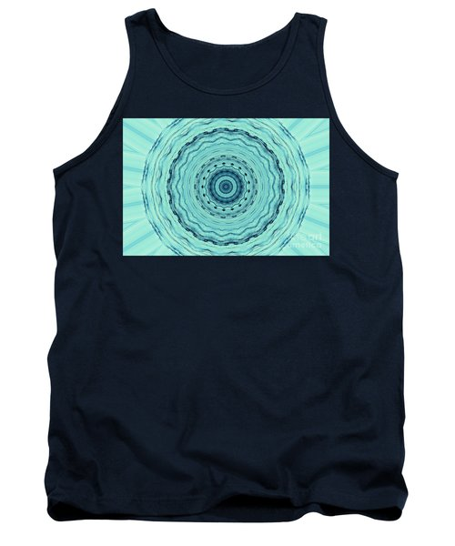 Turquoise Serenade Tank Top by Sheila Ping