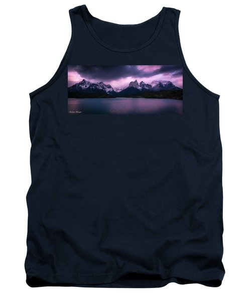 Tank Top featuring the photograph Twilight Over The Lake by Andrew Matwijec