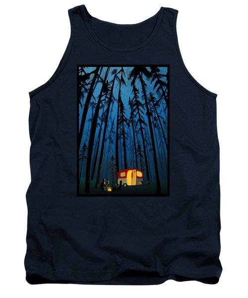 Twilight Camping Tank Top by Sassan Filsoof