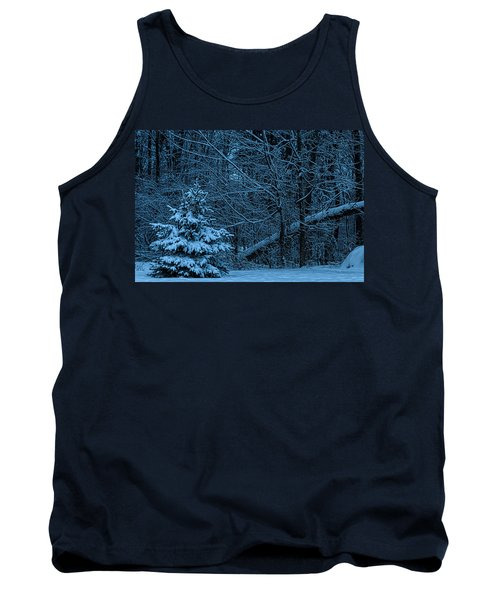 Tank Top featuring the photograph Twilight Snow by Trey Foerster