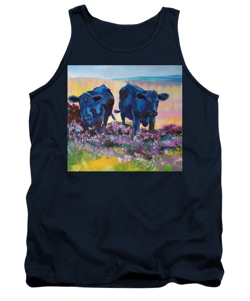 Two Black Cows On Dartmoor Tank Top