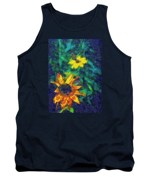 Two Flowers Tank Top by Carlee Ojeda