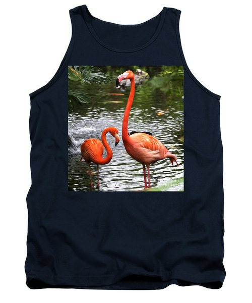 Two Pink Flamingo's Tank Top