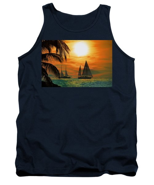 Two Ships Passing In The Night Tank Top