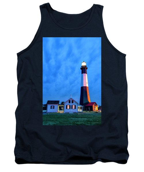 Tybee Island Lighthouse Tank Top by Phyllis Peterson